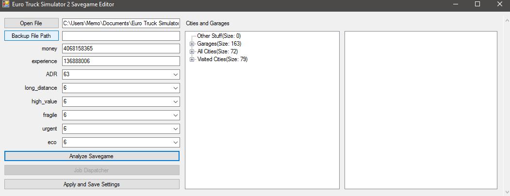 ETS2 Savegame Editor - Unofficial tools - TruckersMP Forum