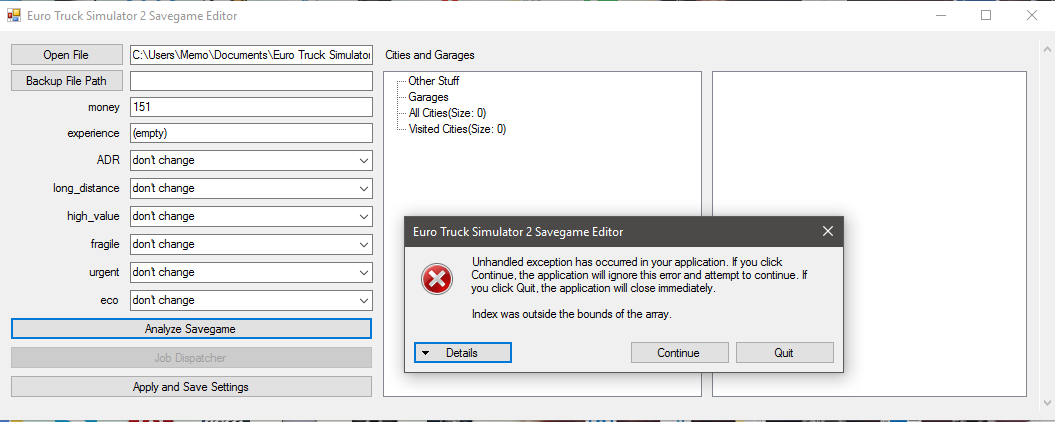 ETS2 Savegame Editor - Unofficial tools - TruckersMP Forum