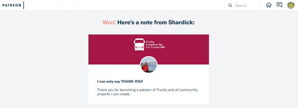 Thank you for your pledge to Shardick   Patreon.png