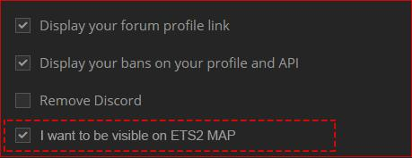 ETS2 MAP] Option: Hide our names (accounts) - Open for